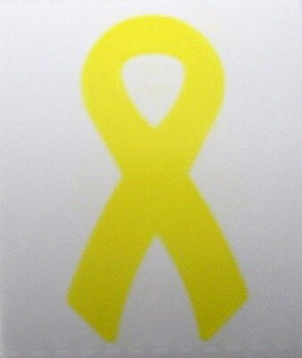 YELLOW RIBBON TANNING STICKER Stickers Scrapbooking Craft SUPPORT OUR TROOPS