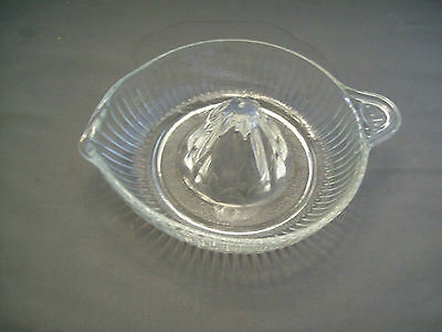Clear Glass Hand Citrus Reamer/Juicer--Flat Handle