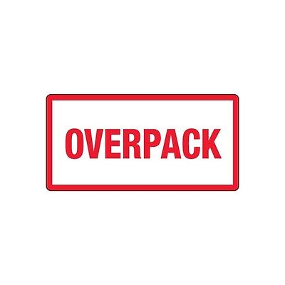 """""""Tape Logic Labels, """"""""Overpack"""""""", 3""""""""x6"""""""", Red/White, 500/Roll"""""""