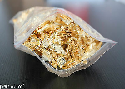 2 Grams Gold Leave Flakes *Beautiful Huge Flakes*