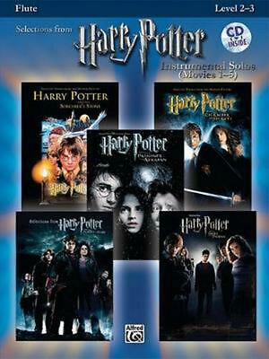Harry Potter Instrumental Solos (Movies 1-5): Flute [With CD] (English) Paperbac