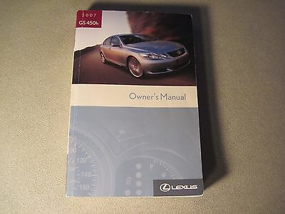 """2007 LEXUS GS450h HYBRID OWNERS MANUAL DEAL  WITH """"FREE U.S. SHIPPING"""" BUY OEM"""