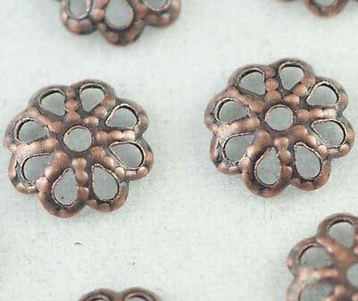 Wholesale 500/300pcs Copper Plated Flower Bead Caps DIY Jewelry Findings 6mm 7mm