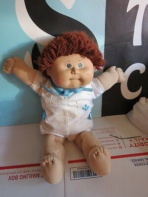 Cabbage Patch Doll Brown Yarn Hair Brown Eyes Boy With Outfit
