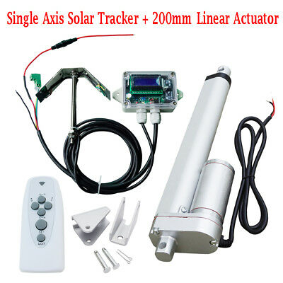 1KW Single Axis Solar Tracker Kit With8'' Linear Actuator And Controller
