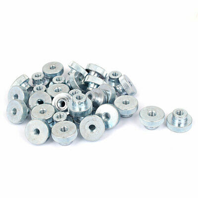 20 Pcs M3 Carbon Steel Knurled Thumb Nuts for 3D Printer Heated Bed