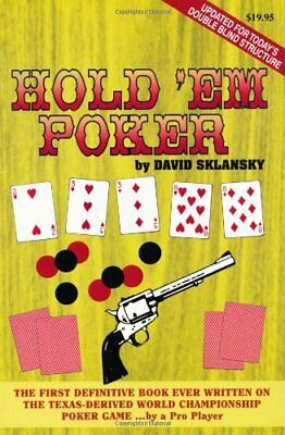 Hold 'em Poker by Sklansky, David Paperback Book The Cheap Fast Free Post