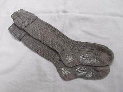VINTAGE 1940's WW2 ERA WOOL COTTON & NYLON GREY BOY'S SCHOOL EVACUEE SOCKS - 7""