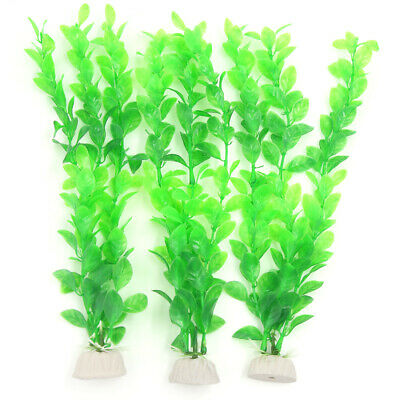 Lot de 3 plantes artificielles pour aquarium 27 cm