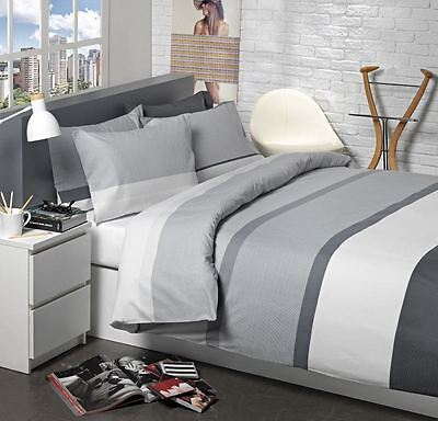 Grey & White Stripe Bedding GREY STRIPE Duvet Cover Set
