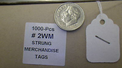 HANG TAGS 1000PC PER BOX White Jewelry Necklace SMALL BLANK clothing 3/4 x 1 1/8