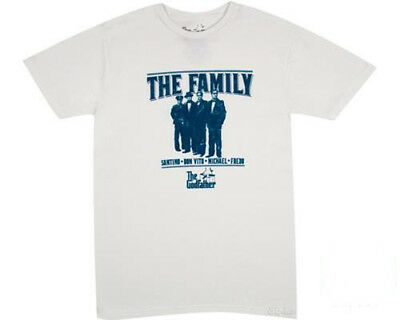 New Official Godfather Movie The Family White Retro Mens Tee T Shirt All Sizes