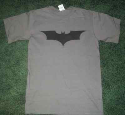 Black on Gray  BATMAN tee t-shirt the dark knight  rises