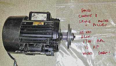 Emco Compact 8 Lathe Spindle Motor with Timing Pulley   0620MI