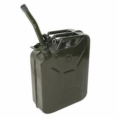 2Pcs 5 Gallon 20L Jerry Can Gas Fuel Army NATO Military Metal Steel Tank Prepper