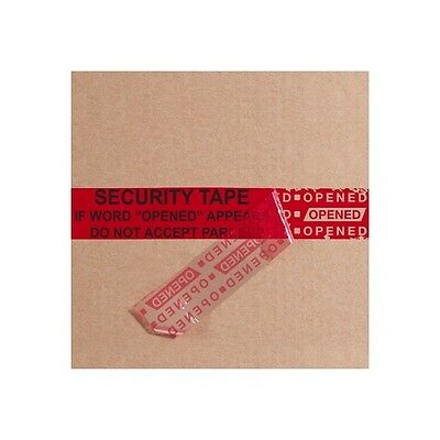 """Tape Logic Secure Tape Strips, 2"""" x 9"""", Red, 100/Case"""