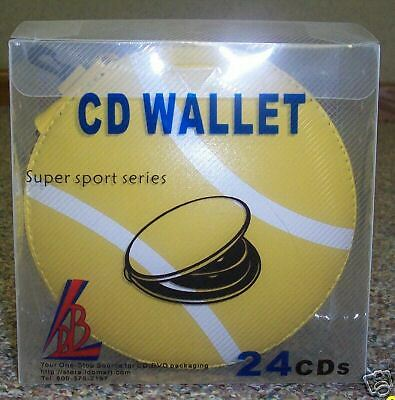 20 Sports Cd Wallets - Holds 24 Cds Each - Tennisball