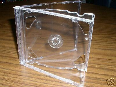 200 New High Quality 10.4mm Double 2 CD Jewel Cases w/Clear Tray PSC36CANADA