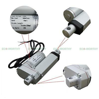 """DC12V 2"""" 50mm Linear Actuator Motor Heavy Duty 900N/90Kg for Electric Power"""