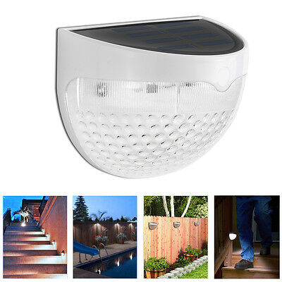 1/6/10x Outdoor Solar Powered LED Garden Stair Step Light Stainless Wall Pathway