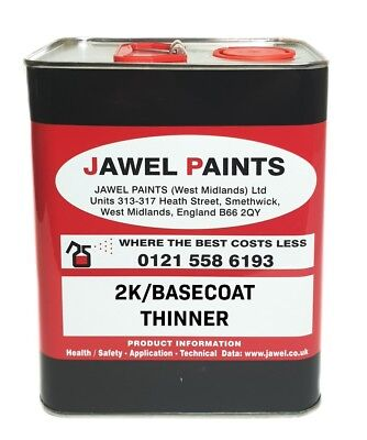 THINNER 2K Acrylic and Basecoat Car Paint Air Dry Fast Jawel  Thinner 2.5lt