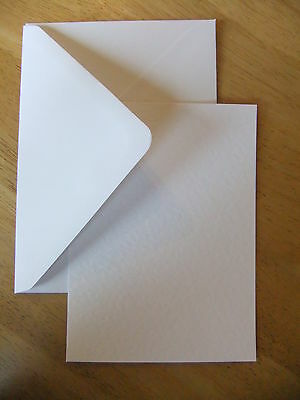 100 White Hammered A6 Postcard style Blank Cards & White Envelopes - Weddings !!