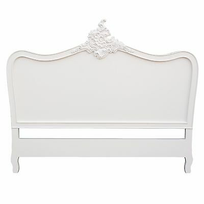 French Style Cream 4ft6 Double Size Shabby Chic Bed Headboard