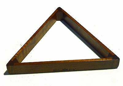 """Peradon English Made Solid Mahogany 2 1/16"""" Triangle For Full Size Snooker"""