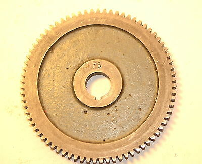 "Excellent MYFORD UK CHANGE GEAR WHEEL 75 TOOTH 5/8"" keyed bore ML7 Super 7 LATHE"