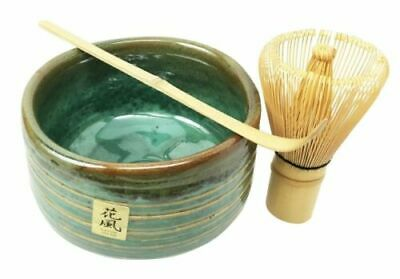 Japanese Traditional Tea Ceremony Matcha Set With Bowl Wooden Whisk And Scoop