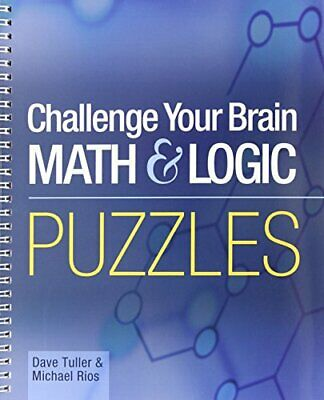 Challenge Your Brain Math & Logic Puzzles by Michael Rios Paperback Book The
