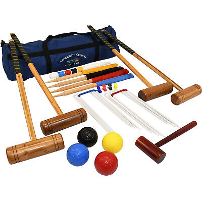 Garden Games Longworth Garden Croquet Set Full Size 4 Player in a Bag Game Play