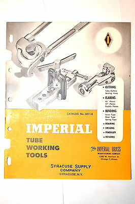 IMPERIAL BRASS TUBE WORKING TOOLS CATALOG No. 3011-B 1953 #RR990 cutter Bender