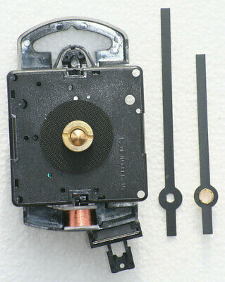 Quartz Pendulum Clock Movement with hands and a short stem length.