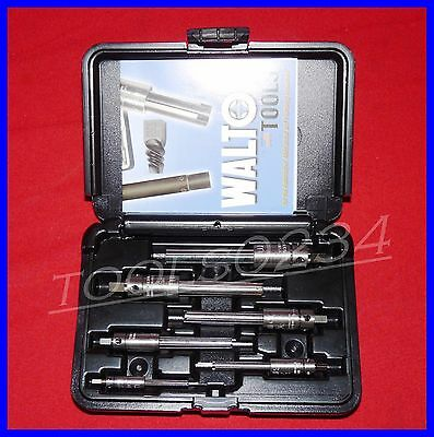 Walton 18001 6 PC Tap Extractor Set USA Made 4 Flute SAE / Metric in case NC NF