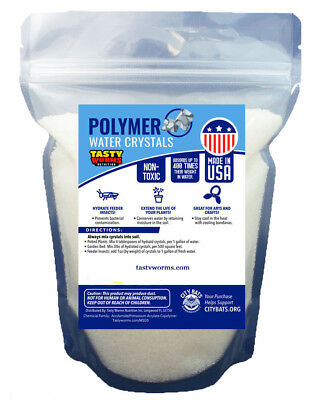 3 lbs Fine Water Absorbing Polymer Crystals Soil Moist Cricket Made in USA