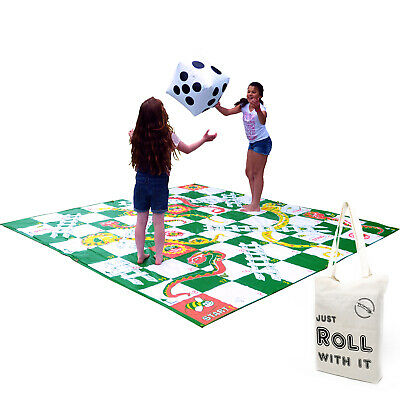 Giant Snakes and Ladders Outdoor Floor Game Extra Large 3 x 3m by Garden Games