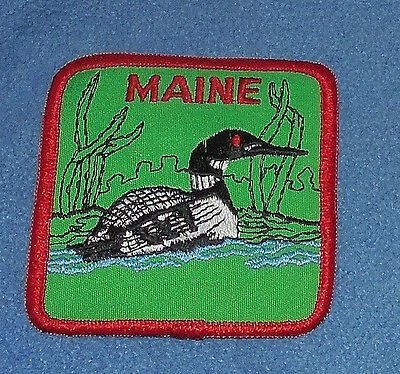 Maine Duck  Iron-On Patch