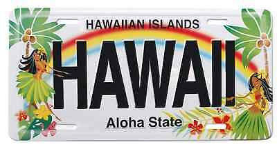 Hawaiian Hula Honeys Hawaii Novelty License Plate Island Decor Tiki Bar