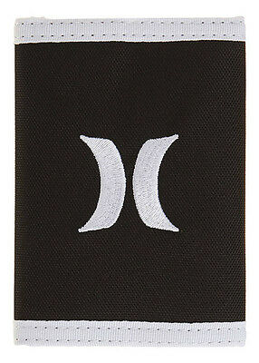 "Brand New + Tag Hurley ""one & Only"" Tri-Fold Wallet Black Mens / Boys / Kids"