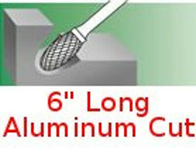 SE-3-NF L6 Long Oval Shape Carbide Bur Aluminum Cut burr roatry file non-ferrous