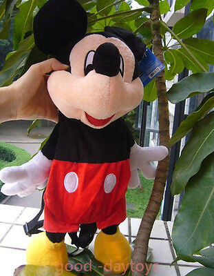 New Mickey Mouse School Bag Plush Backpacks Cute Lovely GIFT For Kids