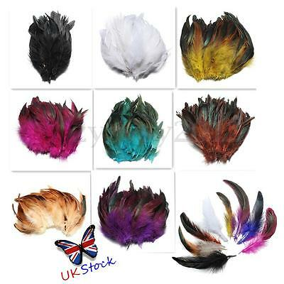 100pcs Beautiful Rooster Pheasant Tail Feathers Costume DIY Decoration 5-7 Inch