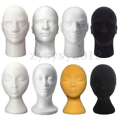 Female Male Styrofoam Foam Mannequin Head Model Hat Wig Display Stand Rack UK