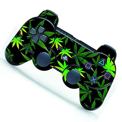Latest Green Leaf Decal Skin Sticker for Playstation 3 PS3 Remote Controller