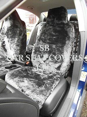 To Fit A Ford Puma Car, Seat Covers, Black Faux Fur-Full Set