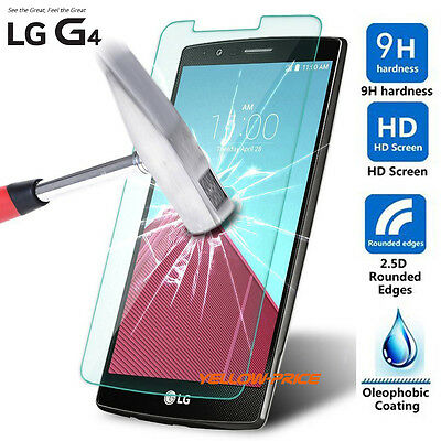 Premium 2.5D 0.3mm 9H+ Tempered Glass Film Guard Screen Protector For LG G4 2015