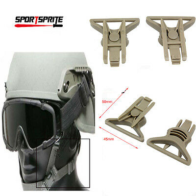 Tactical Swivel Clips for Fast Helmet Goggle Hunting Accessories Big/DE