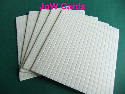 440 Decoupage Foam Sticky Pads 5x5x1mm Double Sided - 1 sheet
