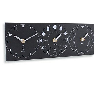 Moon, Tide and Time Clock, Made in Cornwall from Recycled Materials